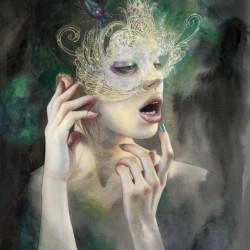 Masks I polish in the moonlight