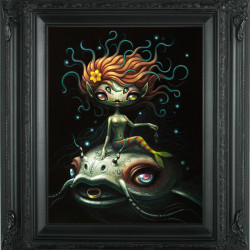 "Yoko d'Holbachie ""Girl in the River"". Acrylic on board 14x11"""