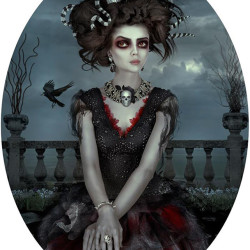 "Natalie Shau ""Muse"".  Digital painting 15x11"""