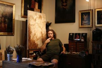 Steven Kenny in his studio