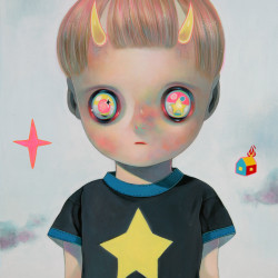Hikari Shimoda 'Children of This Planet #30' (oil on canvas, 16 x 12.5 inches, 2015)