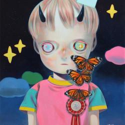 Hikari Shimoda 'Children of This Planet #24' (oil on canvas, 21 x 18 inches, 2014)