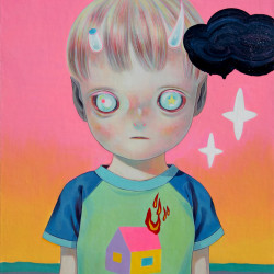 Hikari Shimoda 'Children of This Planet #25' (oil on canvas, 21 x 18 inches, 2014)
