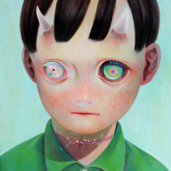 Hikari Shimoda 'Whereabouts of God #1' (oil on canvas, 29 x 29 inches, 2012)