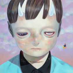 Hikari Shimoda 'Whereabouts of God #16' (oil on canvas, 29 x 29 inches, 2014)