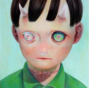 "Hikari Shimoda: ""Whereabouts of God"" #1 (oil on canvas, 29"" x 29"")"